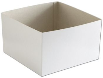 White Hi-Wall Gift Box Bottoms, 10 x 10 x 6
