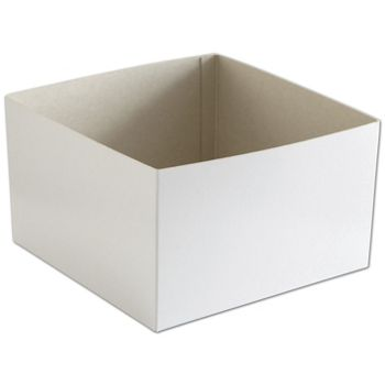White Hi-Wall Gift Box Bottoms, 10 x 10 x 6