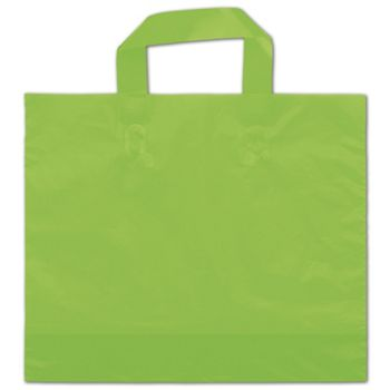 "Citrus Green Frosted Economy Shoppers, 12 x 10"" + 4"" BG"