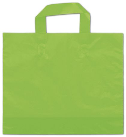 "Citrus Green Frosted Economy Shoppers, 16 x 15"" + 6"" BG"