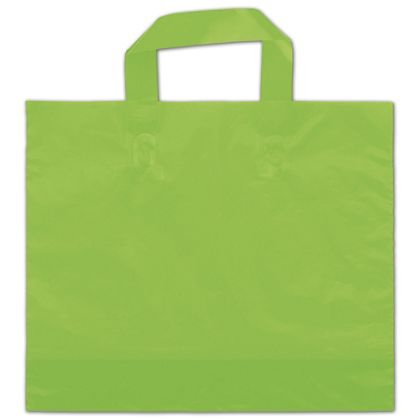 Citrus Green Frosted Economy Shoppers, 16 x 15