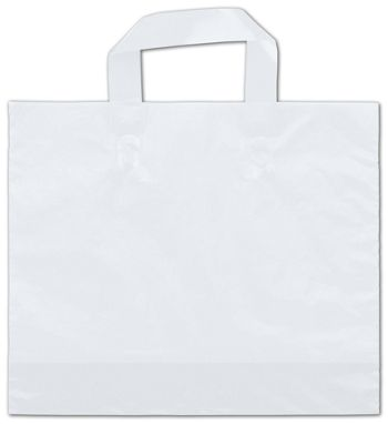 Clear Frosted Economy Shoppers, 12 x 10