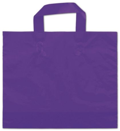"Purple Frosted Economy Shoppers, 12 x 10"" + 4"" BG"