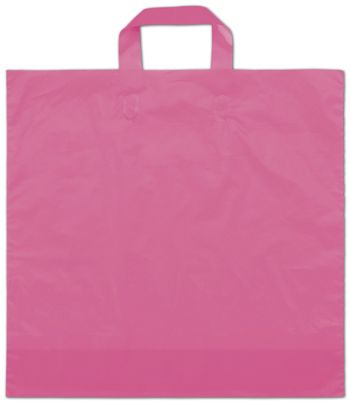 Hot Pink Frosted Economy Shoppers, 16 x 15
