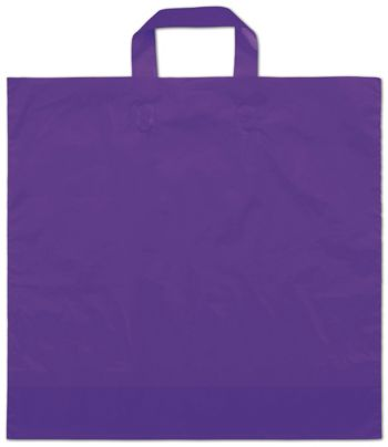 Purple Frosted Economy Shoppers, 16 x 15
