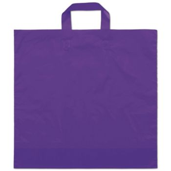 "Purple Frosted Economy Shoppers, 16 x 15"" + 6"" BG"