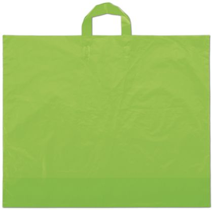 """Citrus Green Frosted Economy Shoppers, 22 x 18"""" + 8"""" BG"""
