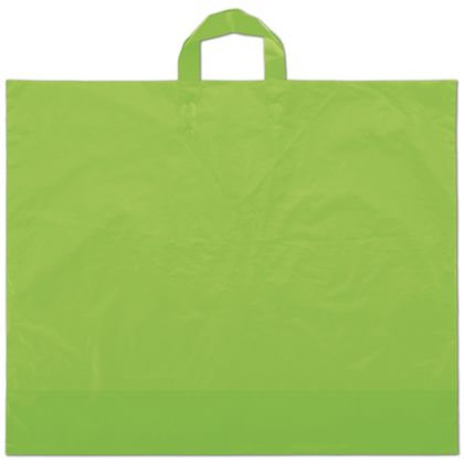 Citrus Green Frosted Economy Shoppers, 22 x 18