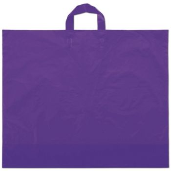 Purple Frosted Economy Shoppers, 22 x 18