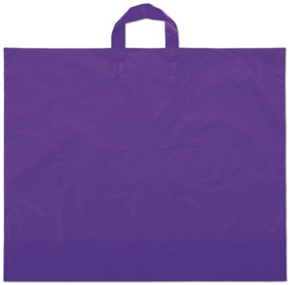"Purple Frosted Economy Shoppers, 22 x 18"" + 8"" BG"