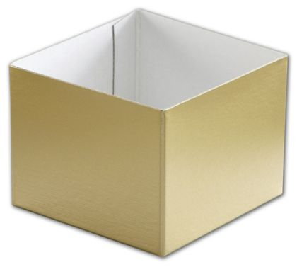 Gold Hi-Wall Gift Box Bottoms, 4 x 4 x 3""