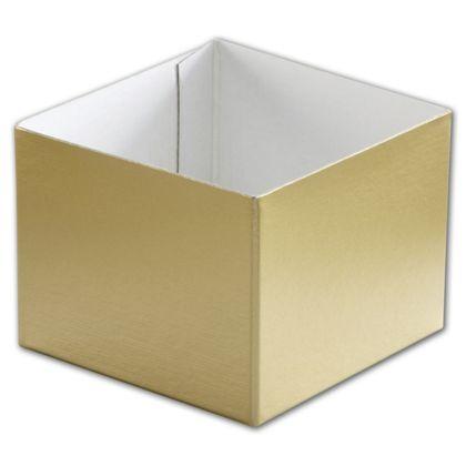 "Gold Hi-Wall Gift Box Bottoms, 4 x 4 x 3"""
