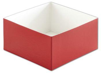 Red Hi-Wall Gift Box Bottoms, 6 x 6 x 3