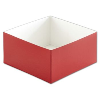 Red Hi-Wall Gift Box Bottoms, 6 x 6 x 3
