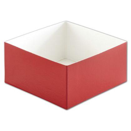 "Red Hi-Wall Gift Box Bottoms, 6 x 6 x 3"""