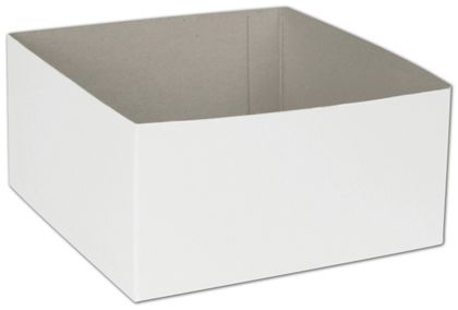"White Hi-Wall Gift Box Bottoms, 6 x 6 x 3"""
