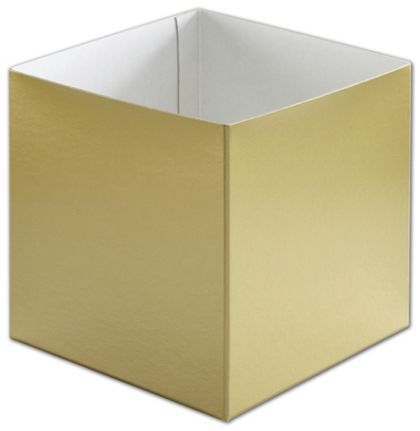 Gold Hi-Wall Gift Box Bottoms, 6 x 6 x 6""