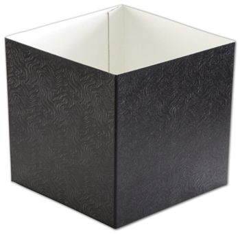 Black Swirl Hi-Wall Gift Box Bottoms, 6 x 6 x 6