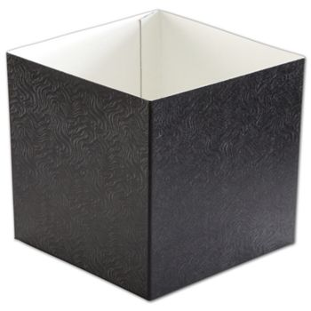 Black Swirl Hi-Wall Gift Box Bottoms, 6 x 6 x 6""