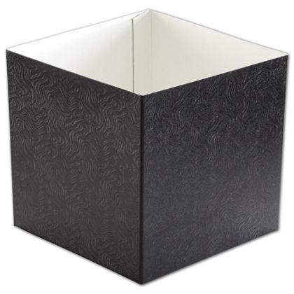 "Black Swirl Hi-Wall Gift Box Bottoms, 6 x 6 x 6"""