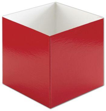 Red Hi-Wall Gift Box Bottoms, 6 x 6 x 6