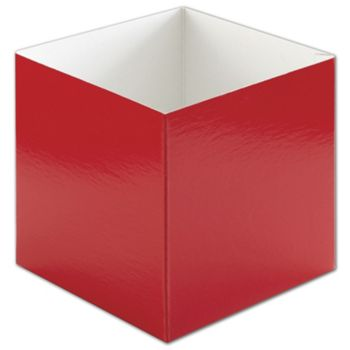 Red Hi-Wall Gift Box Bottoms, 6 x 6 x 6