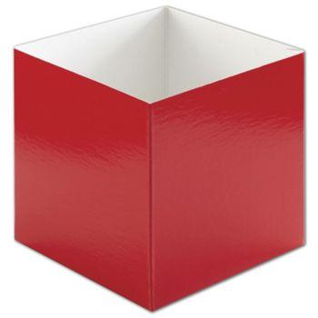 "Red Hi-Wall Gift Box Bottoms, 6 x 6 x 6"""