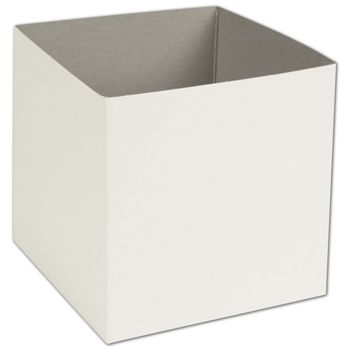 White Hi-Wall Gift Box Bottoms, 6 x 6 x 6