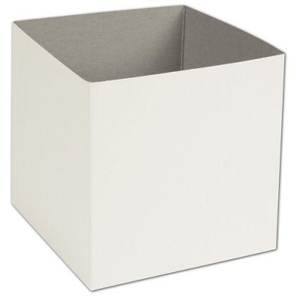 "White Hi-Wall Gift Box Bottoms, 6 x 6 x 6"""