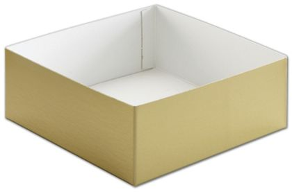 Gold Hi-Wall Gift Box Bottoms, 8 x 8 x 3""