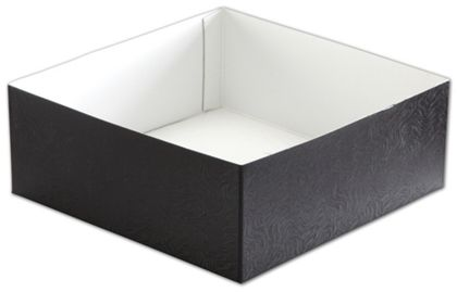 Black Swirl Hi-Wall Gift Box Bottoms, 8 x 8 x 3""