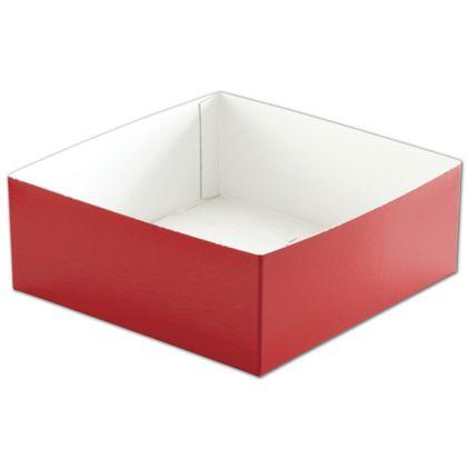 "Red Hi-Wall Gift Box Bottoms, 8 x 8 x 3"""