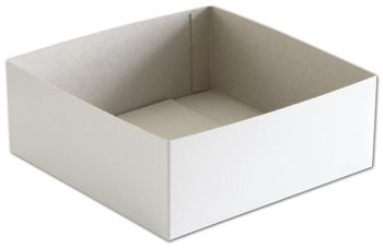 White Hi-Wall Gift Box Bottoms, 8 x 8 x 3
