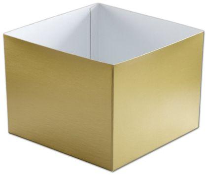 "Gold Hi-Wall Gift Box Bottoms, 8 x 8 x 6"""