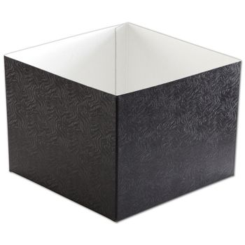 Black Swirl Hi-Wall Gift Box Bottoms, 8 x 8 x 6