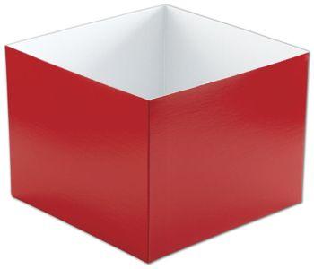 Red Hi-Wall Gift Box Bottoms, 8 x 8 x 6