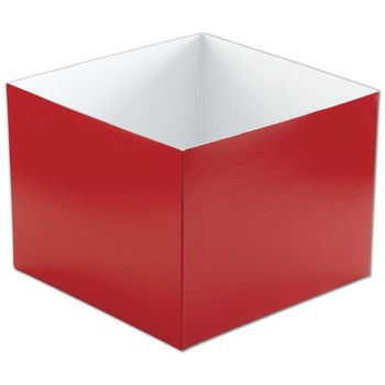 Red Hi-Wall Gift Box Bottoms, 8 x 8 x 6