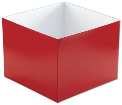 Red Hi-Wall Gift Box Bottoms, 8 x 8 x 6""