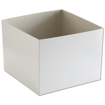 White Hi-Wall Gift Box Bottoms, 8 x 8 x 6