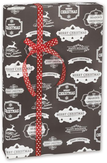 Chalky Christmas Gift Wrap, 30