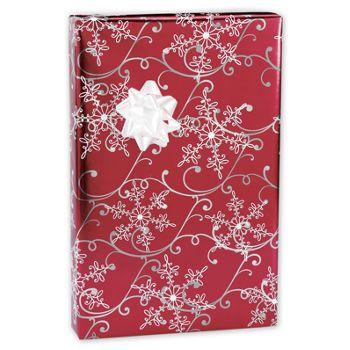 Christmas Snowflakes Foil Gift Wrap, 24
