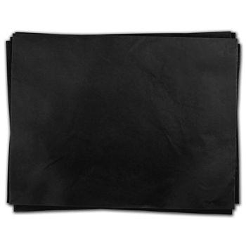 "Black Heavy Duty Flat Packed Tissue, 24 x 36"""