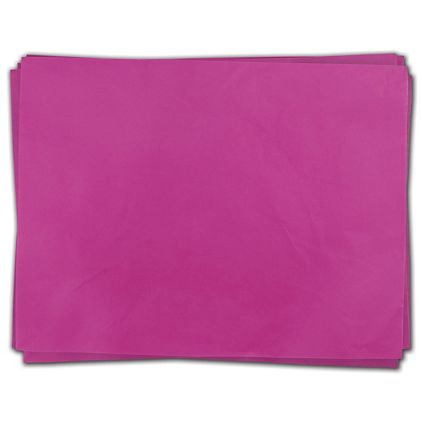 "Cerise Heavy Duty Flat Packed Tissue, 24 x 36"""