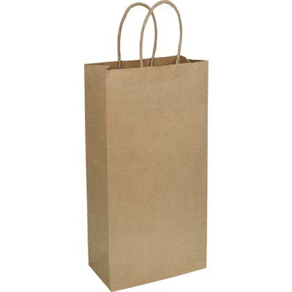 """Kraft Heavy Weight 2-Bottle Wine Bags, 6 1/4 x 3 1/2 x 13"""""""