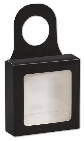 Black Bottle Hanger Favor Boxes, 3 5/8 x 3 5/8 x 1 1/8