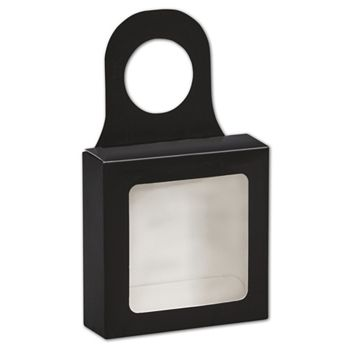 Black Bottle Hanger Favor Boxes, 3 5/8 x 3 5/8 x 1 1/8