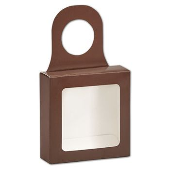 Chocolate Bottle Hanger Favor Boxes, 3 5/8 x 3 5/8 x 1 1/8