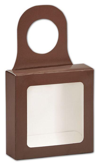 Chocolate Bottle Hanger Favor Boxes, 3 5/8 x 3 5/8 x 1 1/8