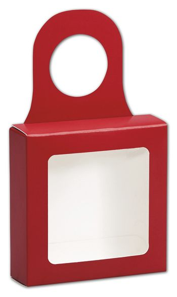 Red Bottle Hanger Favor Boxes, 3 5/8 x 3 5/8 x 1 1/8