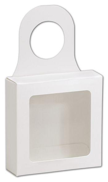 White Bottle Hanger Favor Boxes, 3 5/8 x 3 5/8 x 1 1/8